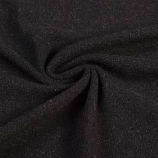Трикотаж с ангорой черный, ш.145 оптом