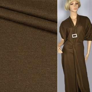"""Трикотаж костюмный шерстяной """"Kochwolle uni"""" коричневый ш.145 оптом"""