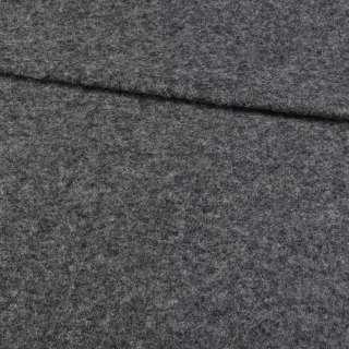 Трикотаж пальтовый BECKER темно-серый меланж, ш.155 оптом