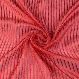 Шелк красный в полоску ш.137 оптом