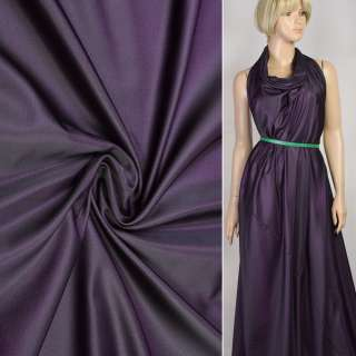Шелк искусственный фиолетово-черный, ш.160 оптом