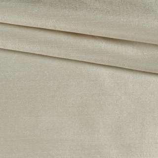 Шелк атласный плотный светлый бежевый ш.134 оптом