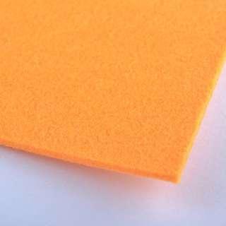 Войлок (для рукоделия) оранжевый (2мм) ш.100 оптом