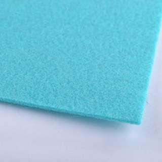 Фетр (для рукоделия) светло-бирюзовый (2мм) ш.100 оптом