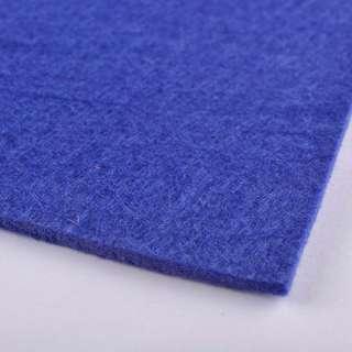 Фетр (для рукоделия) синий (3мм) ш.100 оптом