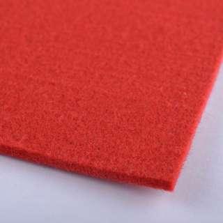 Фетр (для рукоделия) ярко-красный (3мм) ш.100 оптом