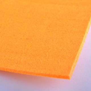 Фетр (для рукоделия) оранжевый (3мм) ш.100 оптом