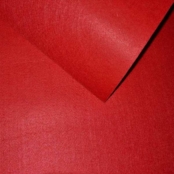 Войлок синтетический для рукоделия красный (0,95мм) ш.85 оптом