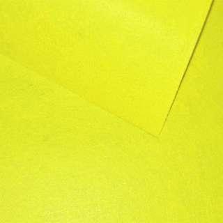 Фетр (для рукоділля) лимонний (0,9 мм) ш.85 оптом