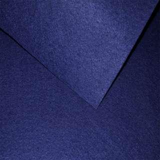 Войлок синтетический для рукоделия синий темный (0,95мм) ш.85 оптом
