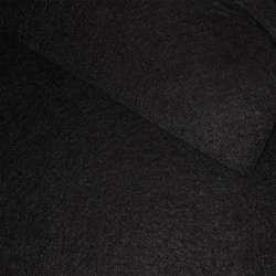 Войлок синтетический для рукоделия черный (0,95мм) ш.85