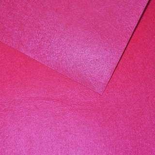 Войлок синтетический для рукоделия розовый неоновый (0,95мм) ш.85 оптом
