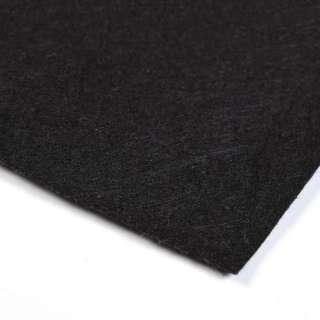 Войлок синтетический для рукоделия (0,9мм) черный ш.160 оптом