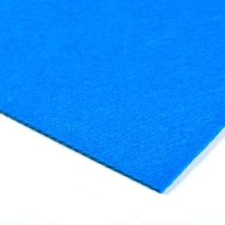 Войлок синтетический для рукоделия (0,9мм) синий ш.150 оптом