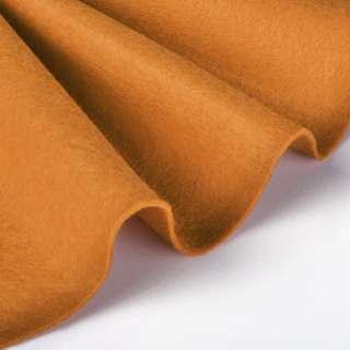 Войлок синтетический для рукоделия мягкий (2мм) рыжий, ш.85 оптом
