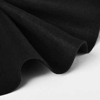 Войлок синтетический для рукоделия мягкий (2мм) черный, ш.85 оптом