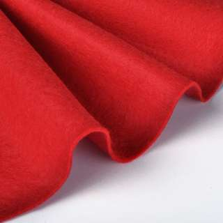 Войлок синтетический для рукоделия мягкий (2мм) красный, ш.85 оптом