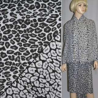 Гобелен черно-белый леопард ш.150 оптом