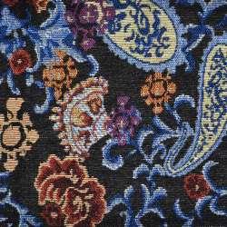 Гобелен черный с бежево-голубыми огурцами ш.150
