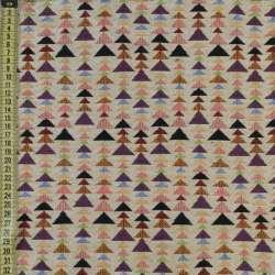 Гобелен бежевый в цветные треугольники ш.150 оптом