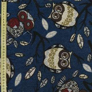 Гобелен совы на синем фоне ш.150 оптом