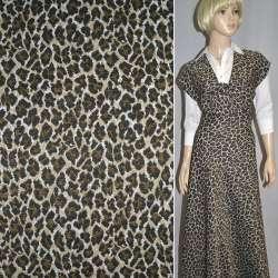 Гобелен бежево-черный леопард ш.152
