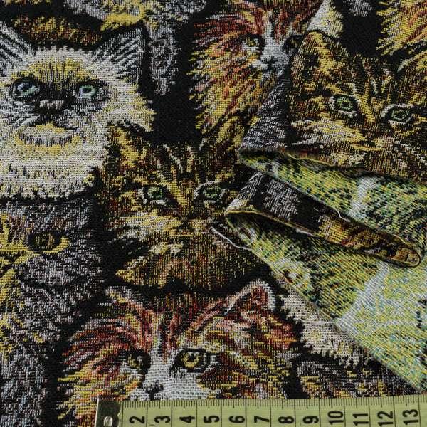 Гобелен кошки на черном фоне ш.150 оптом