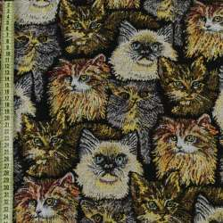 Гобелен кошки на черном фоне ш.150