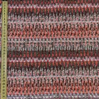 Гобелен серый в оранжево-бежевые зигзаги ш.150 оптом