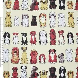 Деко-коттон кремовый с собаками ш.150 оптом