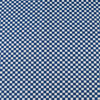 Деко-коттон сине-белая шахматка 6мм, ш.150 оптом