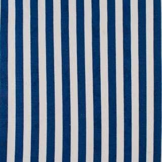 Деко-котон синьо-білі смужки ш.150 оптом