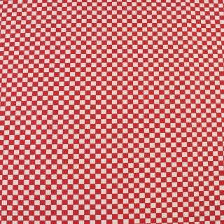 Деко-коттон красно-белая шахматка 6мм, ш.150 оптом