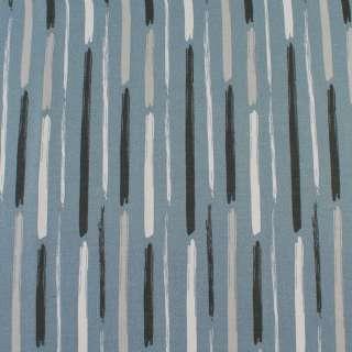 Деко-коттон серый в белые,серые широкие штрихи, ш.150 оптом