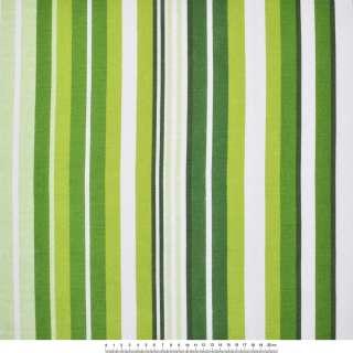 Деко-коттон бело-зеленые и темно-зеленые полоски ш.150 оптом