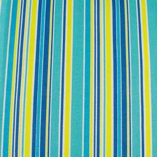 Деко-котон жовто-блакитні, синьо-білі смужки ш.150 оптом