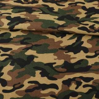 Деко-коттон камуфляж, бежево-коричнево-зеленый, ш.150 оптом