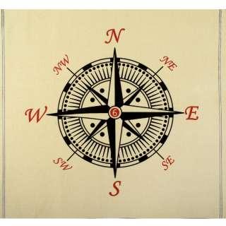 Деко-коттон кремовый, черный компас, раппорт 92см (наволочка 46х46см),ш.150 оптом