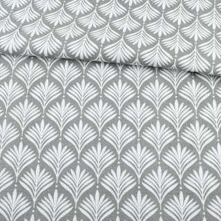 Деко-котон сірий, біле листя ш.150 оптом