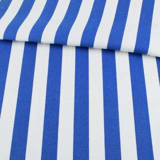 Деко-котон в біло-синю широкую смугу ш.150 оптом