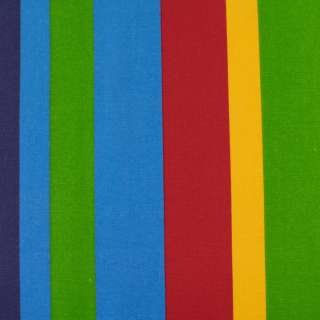 Деко-котон білі, блакитні, жовті, червоні смужки, ш.150 оптом