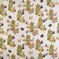 Деко-лен молочный в бабочки, цветы, клетки с птичками ш.150 оптом