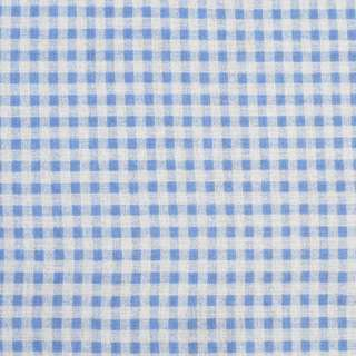 Деко-лен серый в голубую клетку, ш.155 оптом
