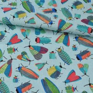 Деко-льон блакитний, різнокольорові комахи, ш.150 оптом