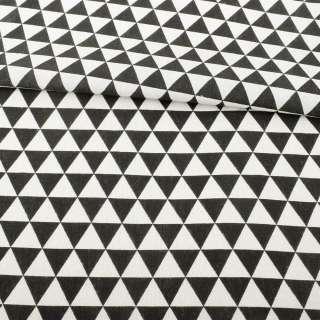 Деко-лен в черно-белые треугольники ш.152 оптом