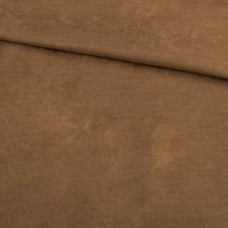 Замша на дайвинге коричневая, ш.150 оптом