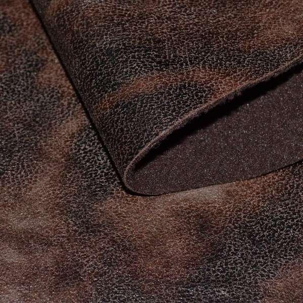 Замша искусственная на флисе коричневая темная оптом