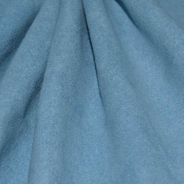 Замша искусственная голубая оптом