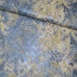 Замша искусственная голубая с абстрактным рисунком оптом