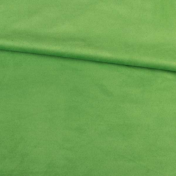 Замша стрейч салатовая, ш.152 оптом